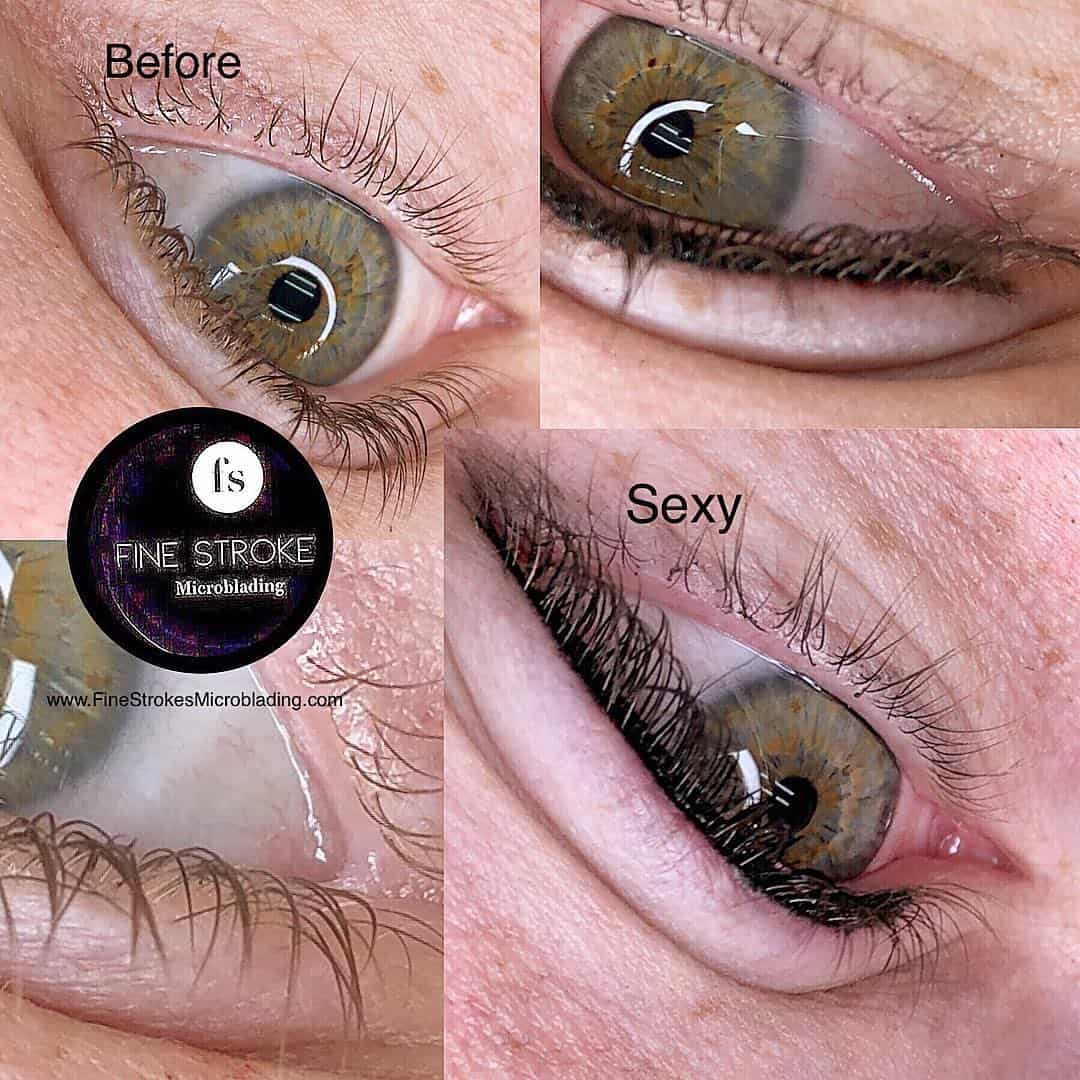 Eyeliner Tattoo Permanent Makeup Michigan Fine Strokes Microblading